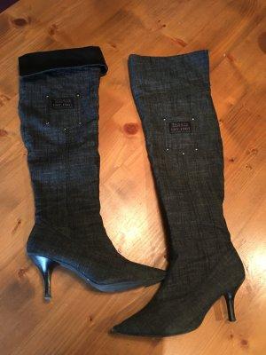 Tamaris Botas sobre la rodilla gris antracita-negro