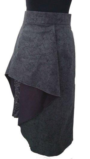 Unikat Falda asimétrica multicolor Imitación de cuero