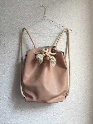 Einzigartiger Leder-Rucksack in Rosa