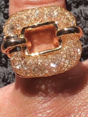Einzigartiger Ring goldfarbend Größe 7