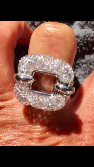 100% Fashion Statement ring lichtgrijs