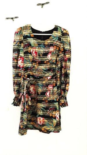 Einzigartiges Boho Kleid in Metallic Optik von Vera Mont, bunt/gold, Gr. 34