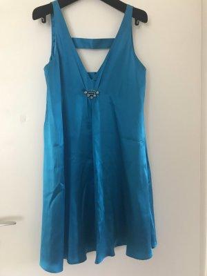 Einzigartiges Kleid in leuchtendem Türkis von Laundry. Gr. 36