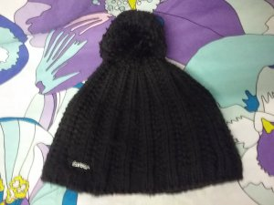 Eisbär Knitted Hat black synthetic fibre