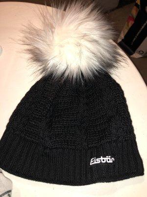 Eisbär Chapeau en tricot noir-blanc