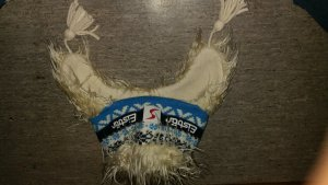 Eisbär Mütze mit Haaren