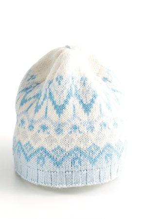 Eisbär Cappello a maglia bianco-blu motivo grafico stile casual