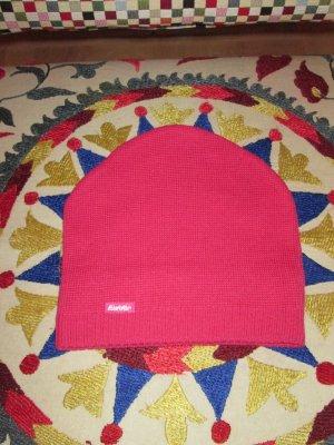 Eisbär Sombrero de punto magenta tejido mezclado