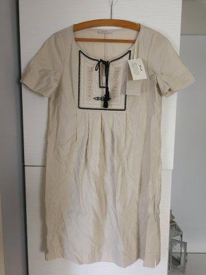 Ekle Tunika Kleid in Beige Schwarz in der Größe 34 NP 189€
