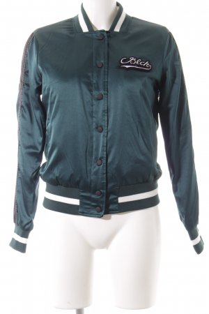 Eksept Bomber Jacket forest green-white athletic style