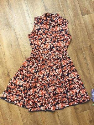 Eksept Kleid Gr. XS Blumen orange blau
