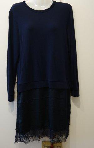 Eksept Sweater Kleid navy mit Spitze Gr. S (36/38) Retro Lagenlook Mori Girl