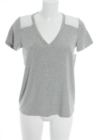 Eksept T-Shirt hellgrau-weiß minimalistischer Stil