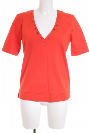 Eksept T-Shirt neonorange-silberfarben Street-Fashion-Look
