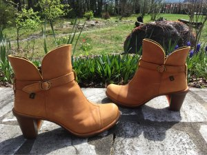 El Naturalista Ankle Boots cognac-coloured-sand brown leather