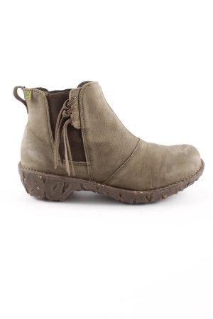El Naturalista Low boot kaki-gris brun style décontracté