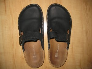 El Naturalista Leder Sabots Clogs Schuhe 41 42 Neuwertig