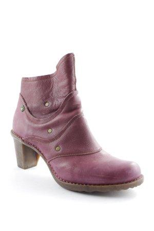 El Naturalista Zipper Booties purple-violet street-fashion look