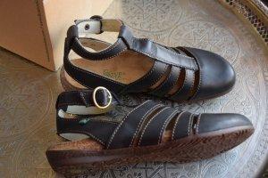 El Naturalista Roman Sandals dark brown leather