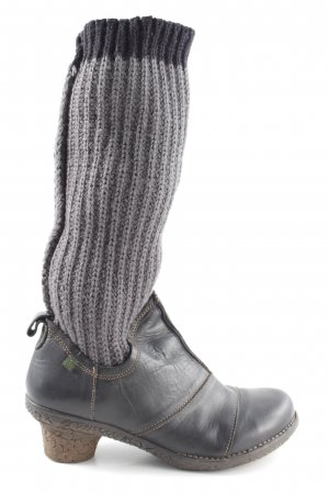 El Naturalista Stretch Boots light grey-blue extravagant style