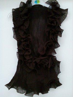 Elagante wickelbluse aus gecrashtem material
