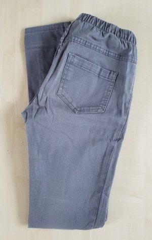 elastische hellgraue Jeans Hose/Jeggings mit elastischem Bund