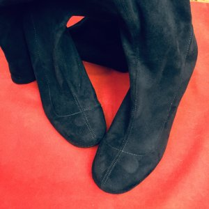 Zara Botas sobre la rodilla azul oscuro