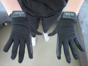 Gloves black polyester