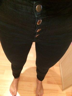 Elastische schwarze Hose