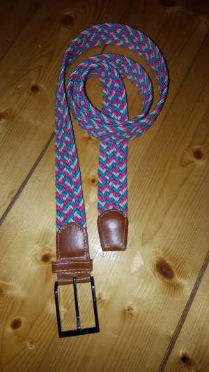 Braided Belt pink-turquoise