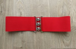 Fabric Belt red spandex