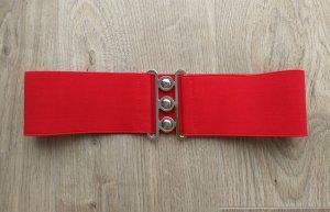 Cinturón de tela rojo Licra