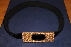 Cintura vita nero-oro Fibra sintetica