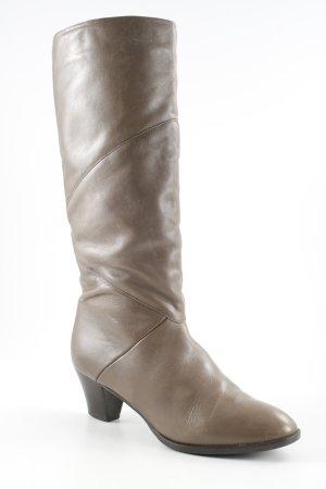 Elastomere Botas estilo militar marrón grisáceo look casual