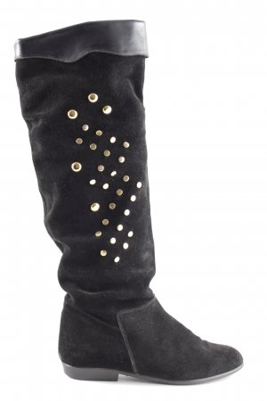 Elastomere Slouch Boots black business style