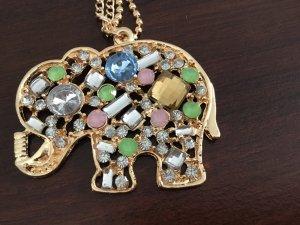 Necklace gold orange-green