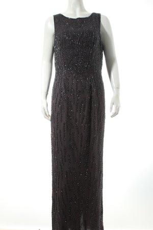 Elegance Abendkleid anthrazit extravaganter Stil