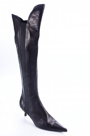 Elegance Absatz Stiefel schwarz extravaganter Stil