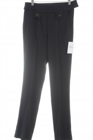 Elégance Pleated Trousers dark blue business style