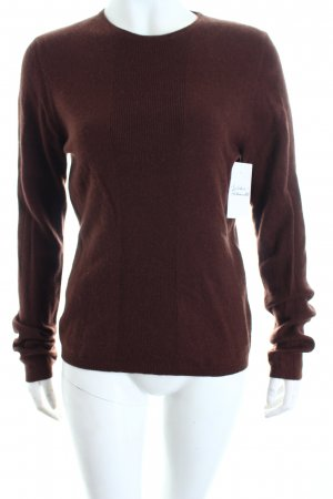 Elegance Cashmerepullover braunrot Casual-Look
