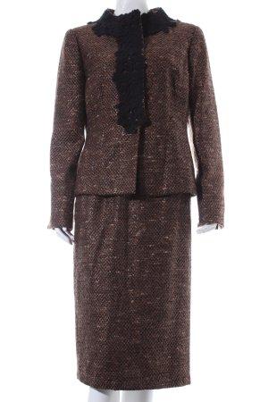 Elegance Kostüm schwarz-braun Brit-Look