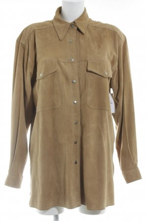 Elégance Camisa de manga larga marrón look casual