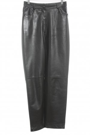 Elégance Lederhose dunkelbraun klassischer Stil