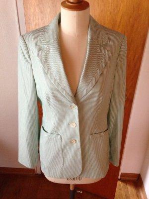 Elegance Paris Blazer grün Weiß gestreift 38