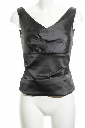 Elégance Paris Blouse brillante noir style d'affaires