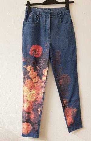 ae elegance Jeans a carota blu acciaio