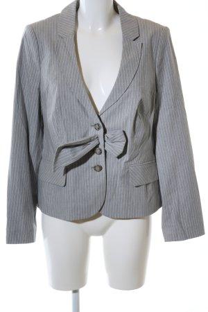 Elégance Paris Blazer corto gris claro estampado a rayas estilo «business»