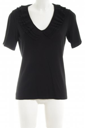 Elégance Paris Short Sleeve Sweater black casual look