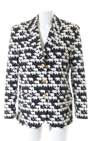 Elégance Paris Long Blazer black-oatmeal animal pattern extravagant style