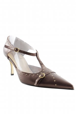 Elégance Paris Mary Jane Pumps bronzefarben-goldfarben Elegant